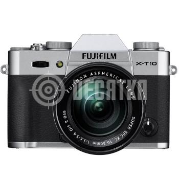 Компактный фотоаппарат со сменным объективом Fujifilm X-T10 kit (16-50mm) Silver
