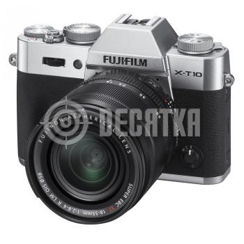 Компактный фотоаппарат со сменным объективом Fujifilm X-T10 kit (18-55mm f/2.8-4.0 R) Silver