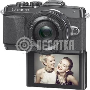 Компактный фотоаппарат со сменным объективом Olympus PEN E-PL7 kit (14-42) Pancake Zoom Black