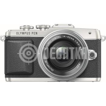 Компактный фотоаппарат со сменным объективом Olympus PEN E-PL7 kit (14-42) Pancake Zoom Silver