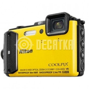 Компактный фотоаппарат Nikon Coolpix AW130 Yellow