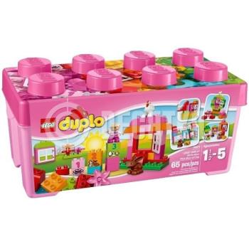 Пластмассовый конструктор LEGO Duplo Веселая розовая коробка (10571)