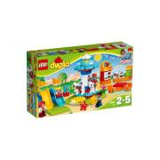 Пластиковый конструктор LEGO DUPLO Семейный парк аттракционов