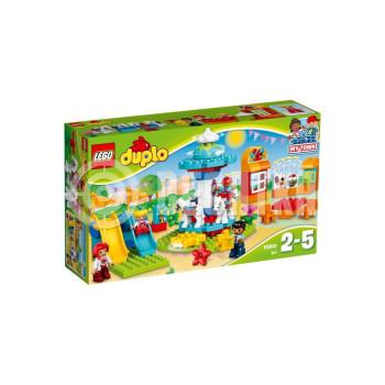 Пластиковый конструктор LEGO DUPLO Семейный парк аттракционов (10841)