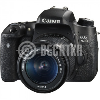 Зеркальный фотоаппарат Canon EOS 760D kit (18-55mm) EF-S IS STM