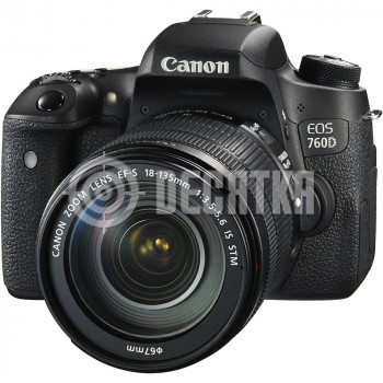 Зеркальный фотоаппарат Canon EOS 760D kit (18-135mm) EF-S IS STM