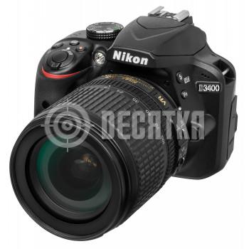 Зеркальный фотоаппарат Nikon D3400 kit (18-105mm VR)