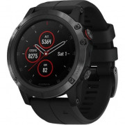 Спортивні годинник Garmin Fenix 5x Plus Sapphire Black with Black Band