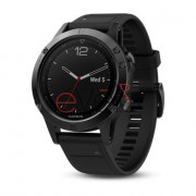 Спортивні годинник Garmin fenix 5 Black Sapphire with Black Band