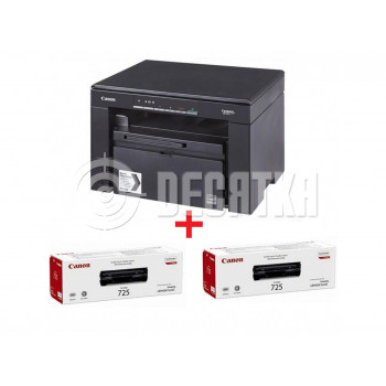 БФП Canon i-SENSYS MF3010 (5252B034) + 2 оригінальних картриджа Canon 725