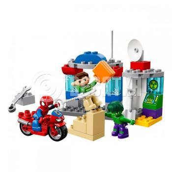 Классический конструктор LEGO DUPLO Super Heroes Приключения Человека-паука и Халка (10876)