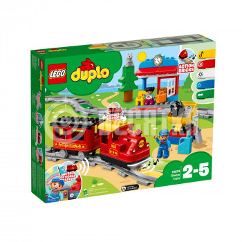 Классический конструктор LEGO DUPLO Town Поезд на паровой тяге (10874)