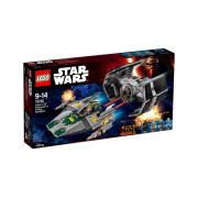 Классический конструктор LEGO Star Wars Истребитель TIE Дарта Вейдера и истребитель A-Wing