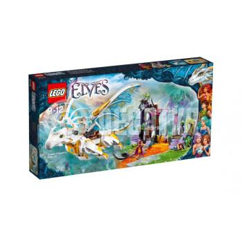 Пластмассовый конструктор LEGO Elves Спасение королевы Драконов (41179)