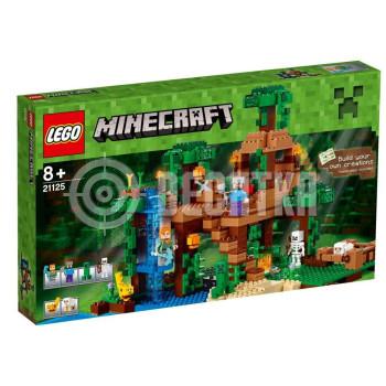 Классический конструктор LEGO Minecraft Домик на дереве в джунглях (21125)