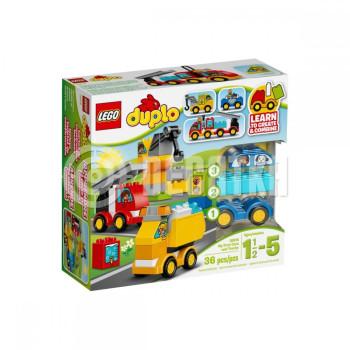 Пластмассовый конструктор LEGO DUPLO My First Мои первые машины и грузовики (10816)