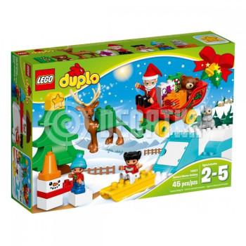 Пластмассовый конструктор LEGO DUPLO Зимние каникулы Санты (10837)