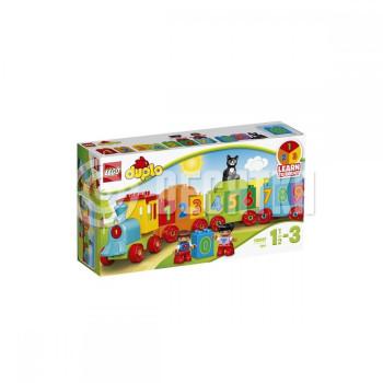 Пластиковый конструктор LEGO Duplo Поезд Считай и играй (10847)