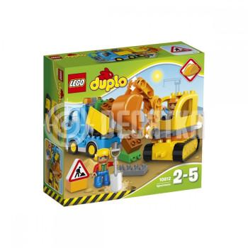 Пластмассовый конструктор LEGO DUPLO Грузовик и гусеничный экскаватор (10812)