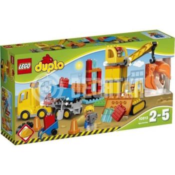 Пластмассовый конструктор LEGO DUPLO Большая стройплощадка (10813)