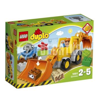 Пластмассовый конструктор LEGO DUPLO Экскаватор-погрузчик (10811)