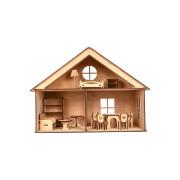 """Дерев'яний іграшковий ляльковий будинок """"LOL HOUSE"""""""
