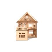 """Дерев'яний іграшковий ляльковий будинок з прибудовою """"MODERN HOUSE"""" 56*66*50 см"""