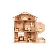 """Дерев'яний іграшковий ляльковий будинок з мансардою """"TREE HOUSE"""""""
